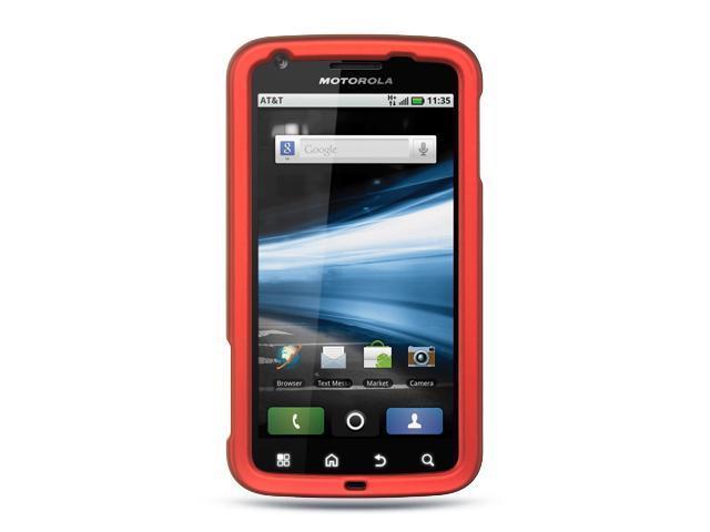 Motorola Atrix MB860 Red Crystal Rubberized Case