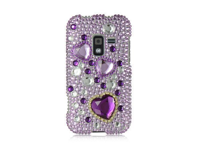 Luxmo Purple Purple with Purple Heart Design Case & Covers Samsung Galaxy S Attain 4G R920