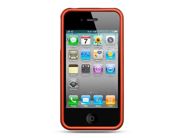 Apple iPhone 4S/iPhone 4 Orange Crystal Rubberized Case
