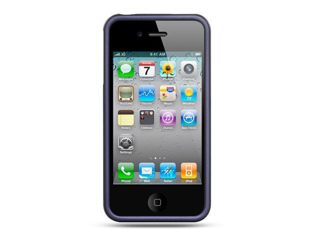Apple iPhone 4S/iPhone 4 Purple Crystal Rubberized Case