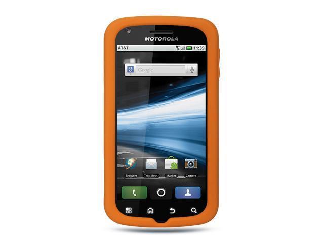 Motorola Atrix MB860 Orange Silicone Skin Case