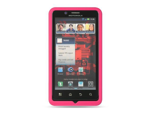Motorola Droid Bionic/Targa XT 875 Hot Pink Silicone Skin Case