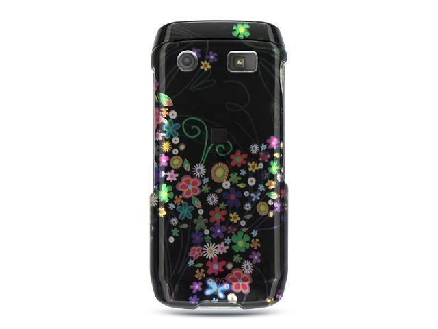 Luxmo Black Black with Rainbow Garden Design Case & Covers BlackBerry Pearl 9100