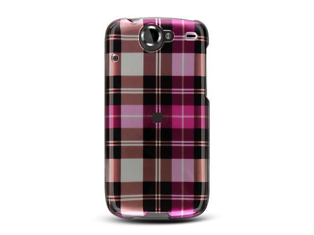 Google Nexus 1 Hot Pink Checker Design Crystal Case