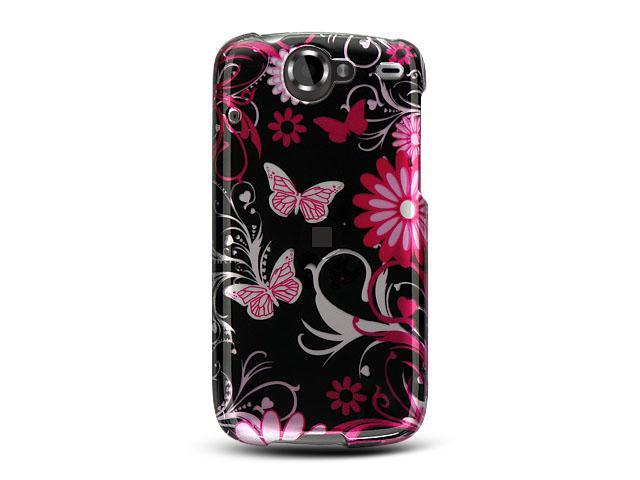Google Nexus 1 Pink Butterfly Design Crystal Case