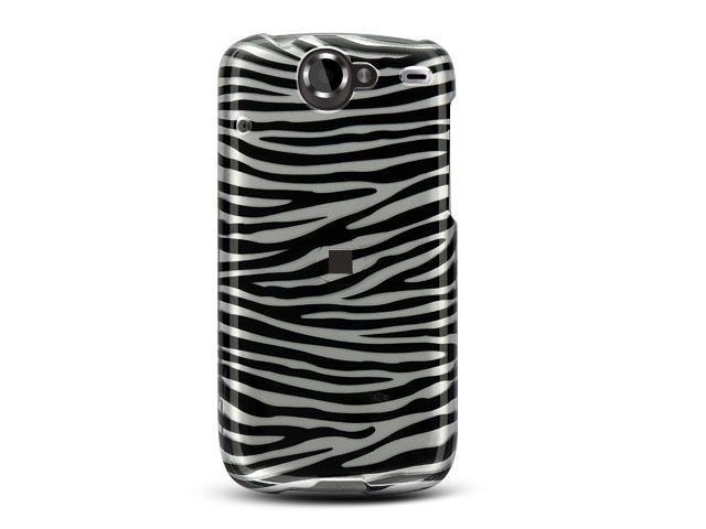Google Nexus 1 Silver Zebra Design Crystal Case