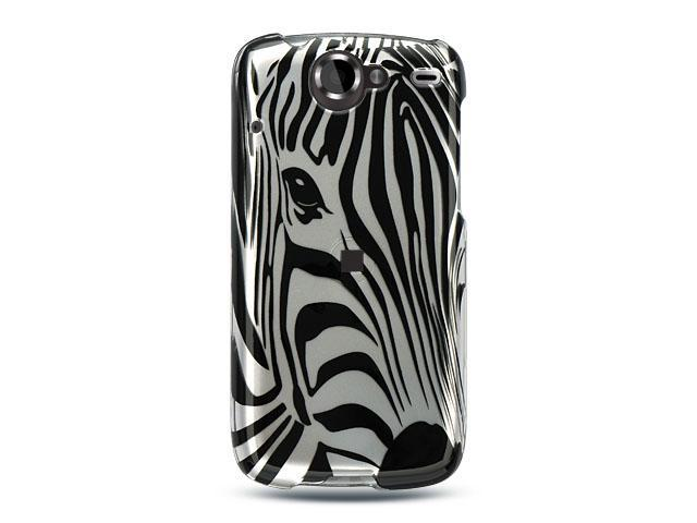 Luxmo Silver Silver Zebra Face Design Case & Covers Google Nexus 1