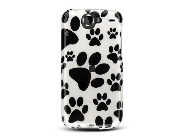 Google Nexus 1 White Dog Paws Design Crystal Case