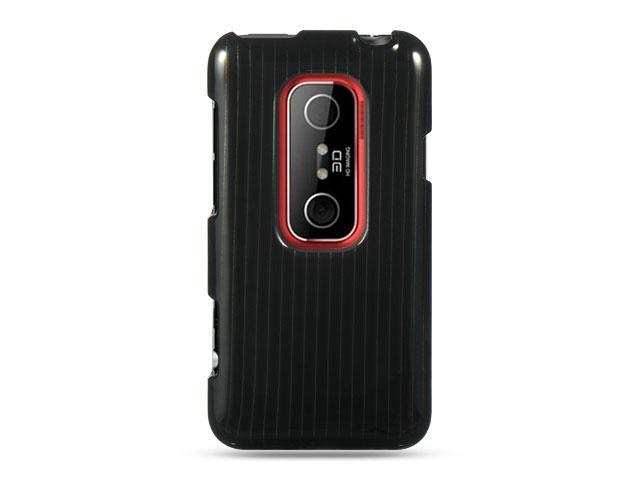 HTC EVO 3D Black Line Design Crystal Case