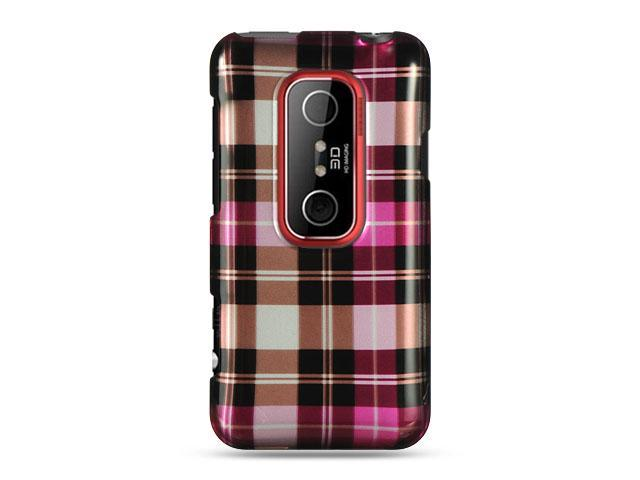 Luxmo Hot Pink Hot Pink Checker Design Case & Covers HTC EVO 3D