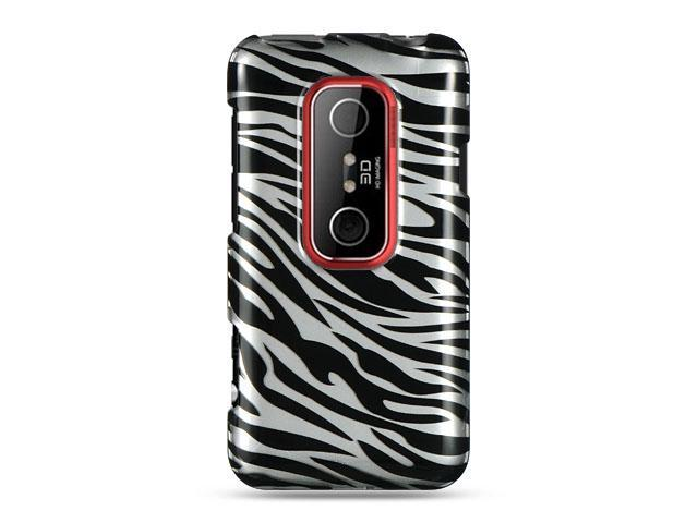 HTC EVO 3D Silver Zebra Design Crystal Case