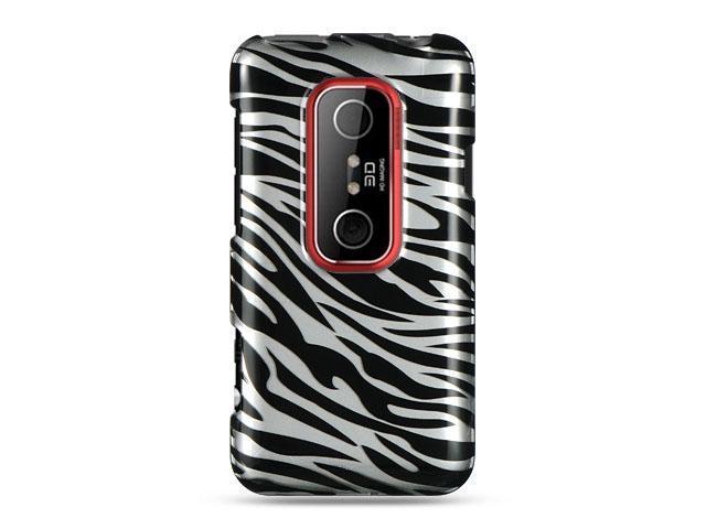 HTC EVO 3D Silver Zebra Design Crystal Case