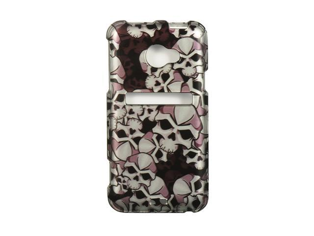 Luxmo Black Black Skull Design Case & Covers HTC EVO 4G LTE