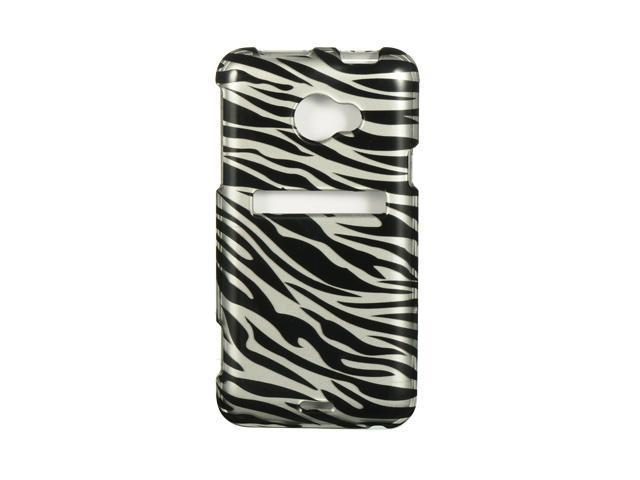 Luxmo Silver Silver Zebra Design Case & Covers HTC EVO 4G LTE
