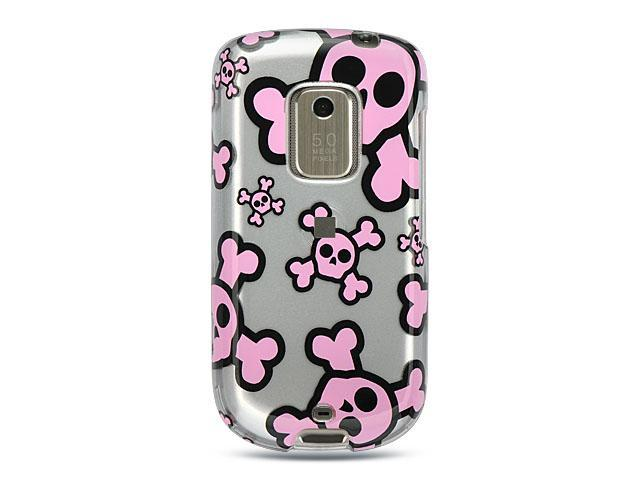 Luxmo Silver Silver with Pink Skull Design Case & Covers HTC Hero