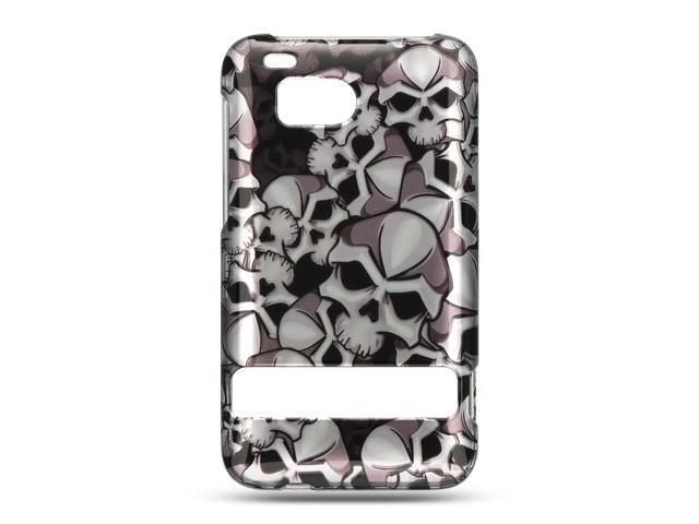 Luxmo Black Black Skull Design Case & Covers HTC Thunderbolt/HTC Incredible HD/HTC 6400