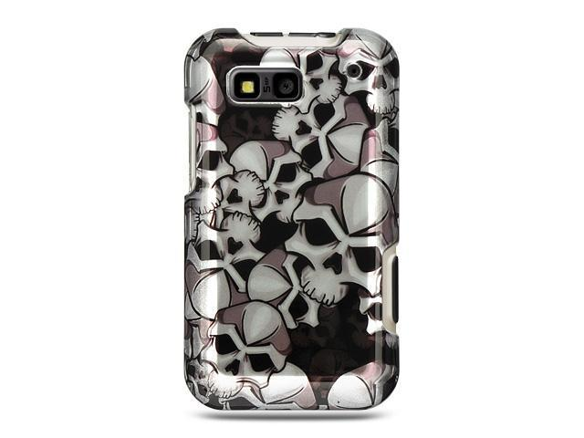 Luxmo Black Black Skull Design Case & Covers Motorola Defy