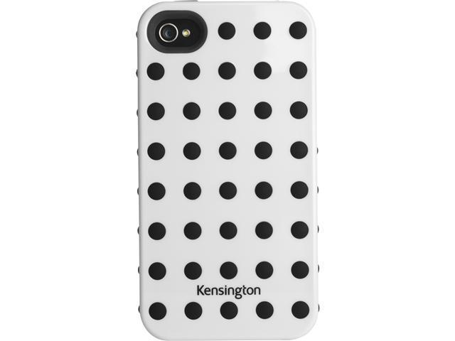 Kensington White w/Black Dots Combination Case for iPhone 4 & 4S K39390US