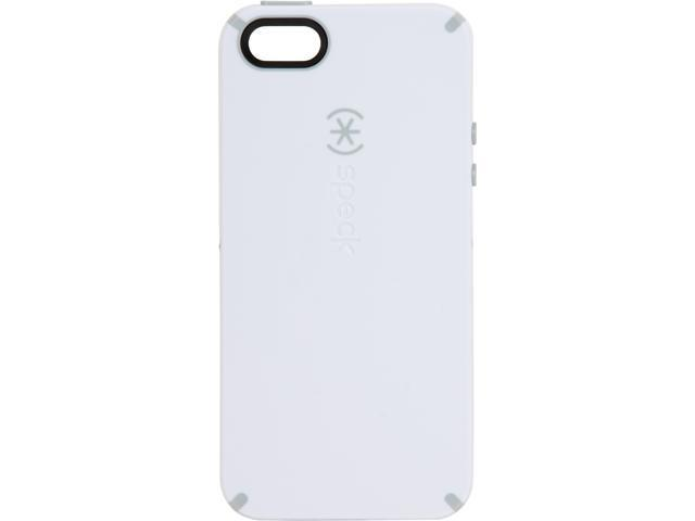 Speck Products CandyShell White/Pebble Grey Rubberized Hard Case for iPhone 5 / 5S SPK-A1797