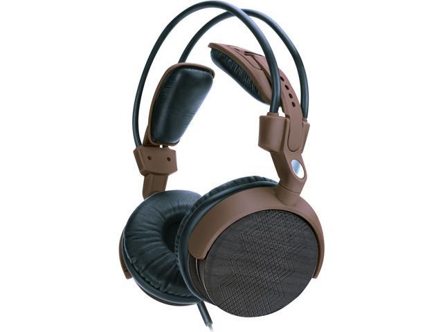 Accessory Power Brown 3.5mm gold plated plug AudioLUX WDX Over-Ear Walnut Wood Headphones w/ Auto-Adjusting Design GGALWDX100BREW