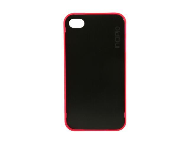 Incipio le deux Black / Translucent Pink Metal Case w/ Polycarbonate Frame For iPhone 4 / 4S IPH-682