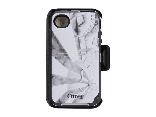 OtterBox Defender Gray / White Fantasy Case For iPhone 4/4S 77-20437