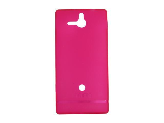 Incipio NGP Translucent Pink Semi-Rigid Soft Shell Case For Sony Xperia U SE-118