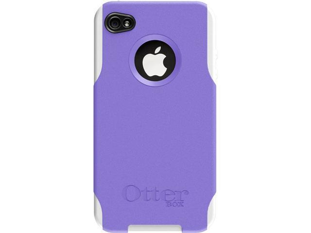 OtterBox Purple Plastic / White Silicone Commuter Case For iPhone 4 (APL4-I4UNI-B7-E4OTR)