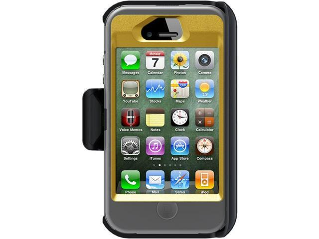 OtterBox Defender Sun Yellow PC / Gunmetal Grey Slip Cover Solid Case for iPhone 4/4S APL2-I4SUN-E5-E4OTR