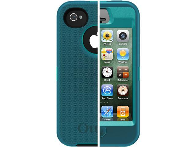 OtterBox Defender Light Teal PC / Deep Teal Slip Cover Solid Case for iPhone 4/4S APL2-I4SUN-E8-E4OTR