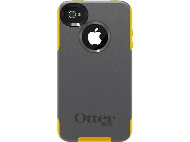 OtterBox Commuter Gunmetal Grey PC / Sun Yellow Slip Cover Commuter Case for iPhone 4/4S 77-18550