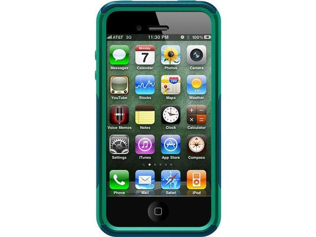 OtterBox Commuter Deep Teal PC / Light Teal Slip Cover Solid Case for iPhone 4/4S                                        ...