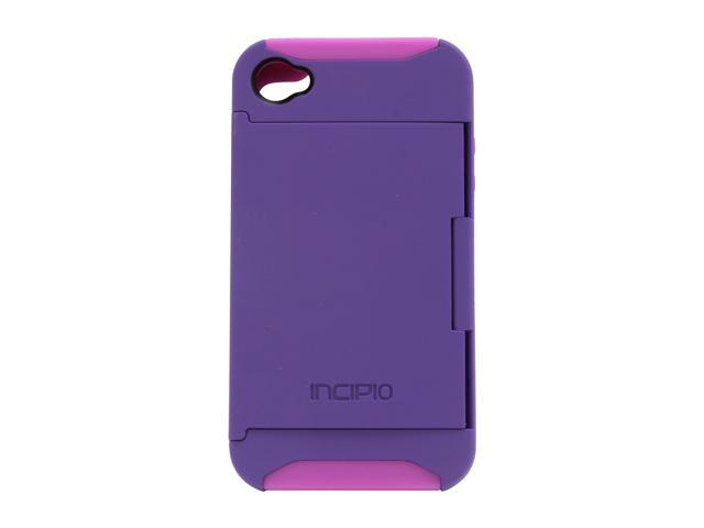 Incipio Purple Stowaway Credit Card Hard Shell Case For iPhone 4/4S IPH-679