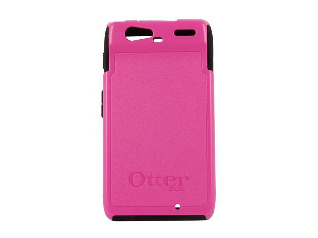 OtterBox Commuter Hot Pink Plastic / Black Silicone Solid Case for Motorola DROID RAZR 77-19143