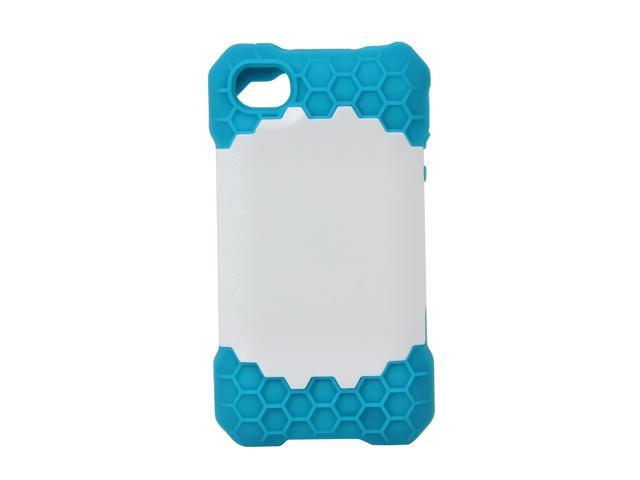 Incipio HIVE RESPONSE Turquoise / White Honeycomb Hard Shell Case w/ Silicone Core For iPhone 4 / 4S IPH-686