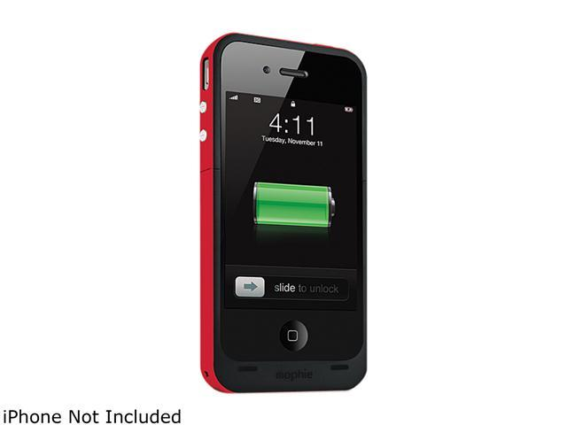 mophie Juice Pack Plus PRODUCT RED 2000mAh Battery Case For iPhone 4 / 4S 1207_JPP-IP4-P-RED