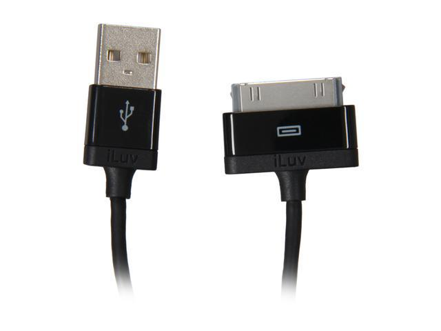 "iLuv 30-Pin Dock Connector to USB 37"" Charge/Sync Cable for iPhone, iPod & iPad (iCB11)"