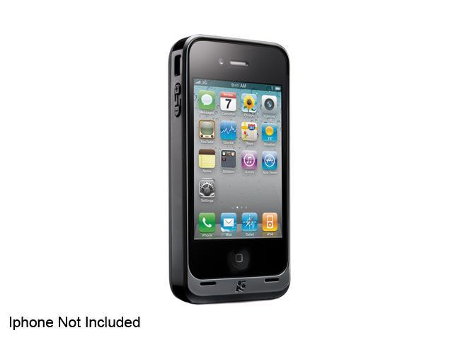 Kensington Black PowerGuard Battery Case with Card Stand for AT&T iPhone 4 (K39260US)