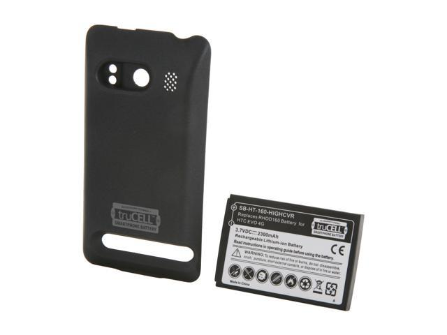 Accessory Power Black truCELL Extended Smartphone Battery with Cover For HTC EVO 4G (SB-HT-160-HIGHCVR)