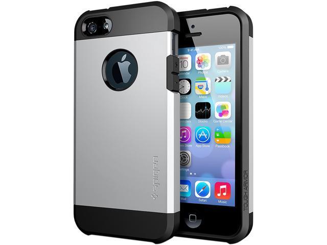 Spigen Tough Armor Satin Silver Case For iPhone 5 / 5S SGP10491