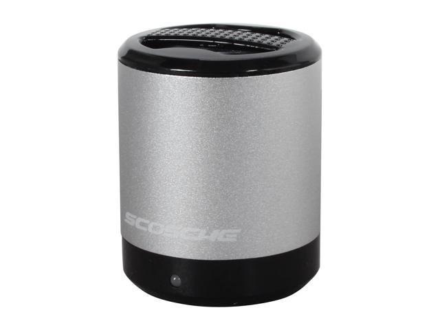SCOSCHE Silver boomCAN Portable Media Speaker PMSSR