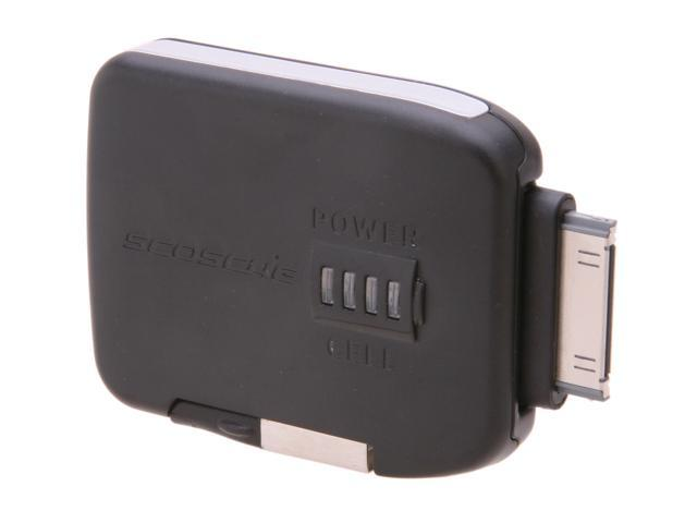 SCOSCHE flipCHARGE burst Black 720 mAh Emergency Backup Battery & Charger for iPod & iPhone IBAT500