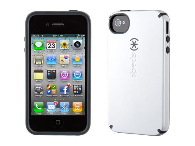 Speck Products CandyShell White / Charcoal Solid Case for iPhone 4 / 4S SPK-A0774