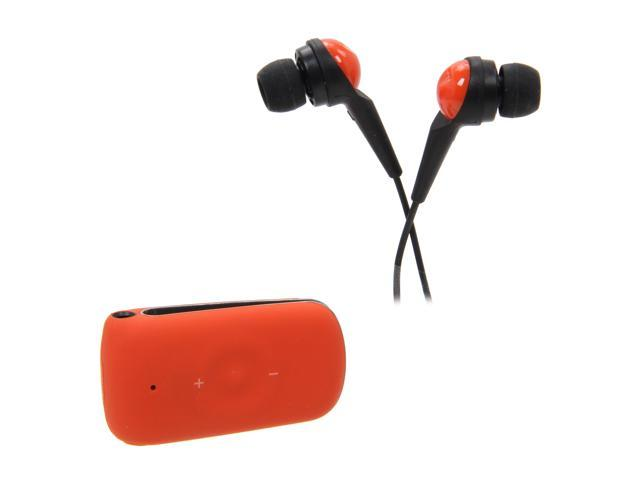 Jabra CLIPPER Tangerine Stereo Bluetooth Headset w/ Multiuse / DSP Technology (100-96800003-02)