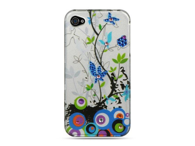 Luxmo Silver Silver Spring Flower Design Case & Covers Apple iPhone 4S/iPhone 4