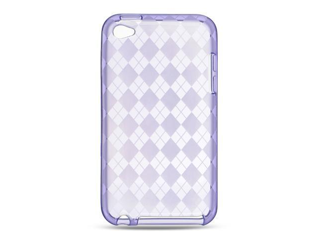 Luxmo Purple Purple Checker Design Case & Covers Apple iPod Touch 4
