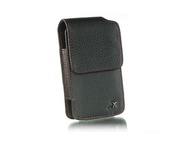 Apple iPhone 4S/Apple iPhone 3GS/Apple iPod Touch 4/BlackBerry Bold/BlackBerry Torch/HTC Droid Incredible Executive #2 Black Vertical Leather Pouch