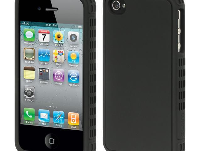 Luxmo Platinum Collection | Fusion Series Black Black Border with Black Back Case & Covers Apple iPhone 4S/iPhone 4