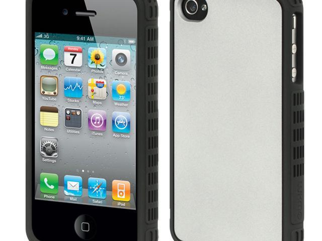 Luxmo Platinum Collection | Fusion Series Silver Black Border with Silver Back Case & Covers Apple iPhone 4S/iPhone 4