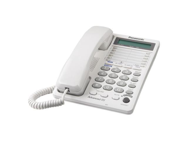 Panasonic KX-TS208W 2-line Operation 2-Line Integrated Telephone System 16-Digit LCD with Clock